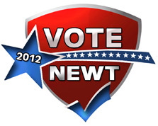 Vote Newt logo design